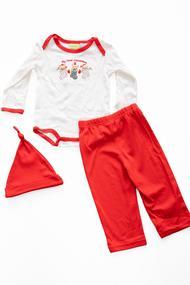 Комплект: бодик, брюки и шапочка, код 22990, арт 1602769