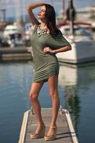 Трикотажна пляжна сукня, 24436, код 24436, арт KK71