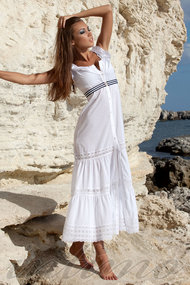 Белые платья в пол, 27353, код 27353, арт 300101