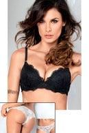 Комплект белья: бюстгальтер push-up gel и трусики бразилиана Lormar 45075