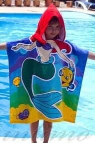 Полотенце-пончо пляжное, код 47251, арт Mermaid-Р