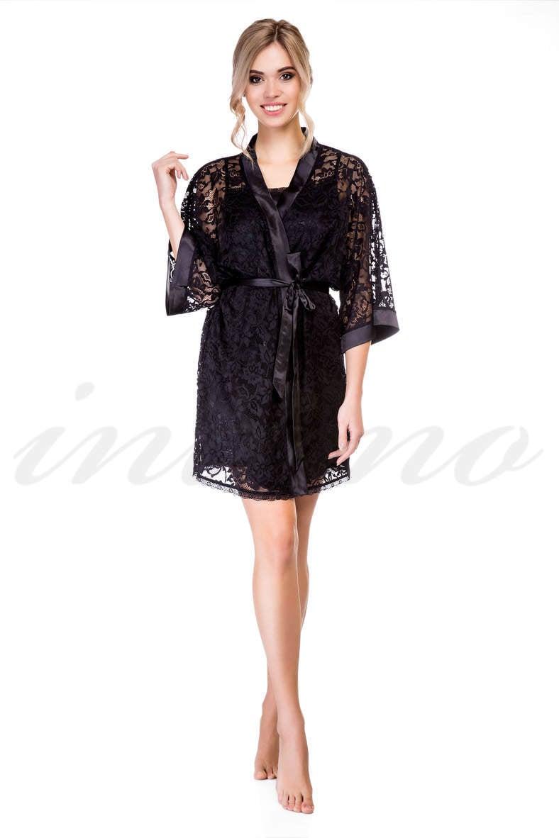 Женские черные халаты, 49877, код 49877, арт F50040