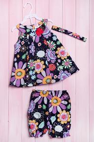 Комплект: сукня, шортики та пов'язка, код 56178, арт 211