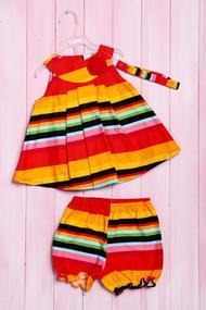 Комплект: сукня, шортики та пов'язка, код 56181, арт 214