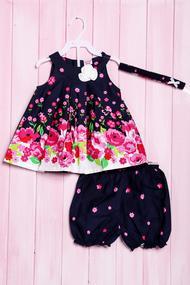 Комплект: сукня, шортики та пов'язка, код 56184, арт 218