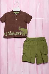 Костюмчик для мальчика: футболка и шортики, хлопок, код 56337, арт 402