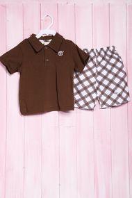 Костюмчик для мальчика: футболка поло и шортики, хлопок, код 56469, арт 46795