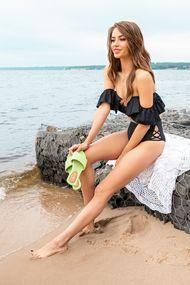 Пляжне взуття на платформі, 62026, код 62026, арт Happy