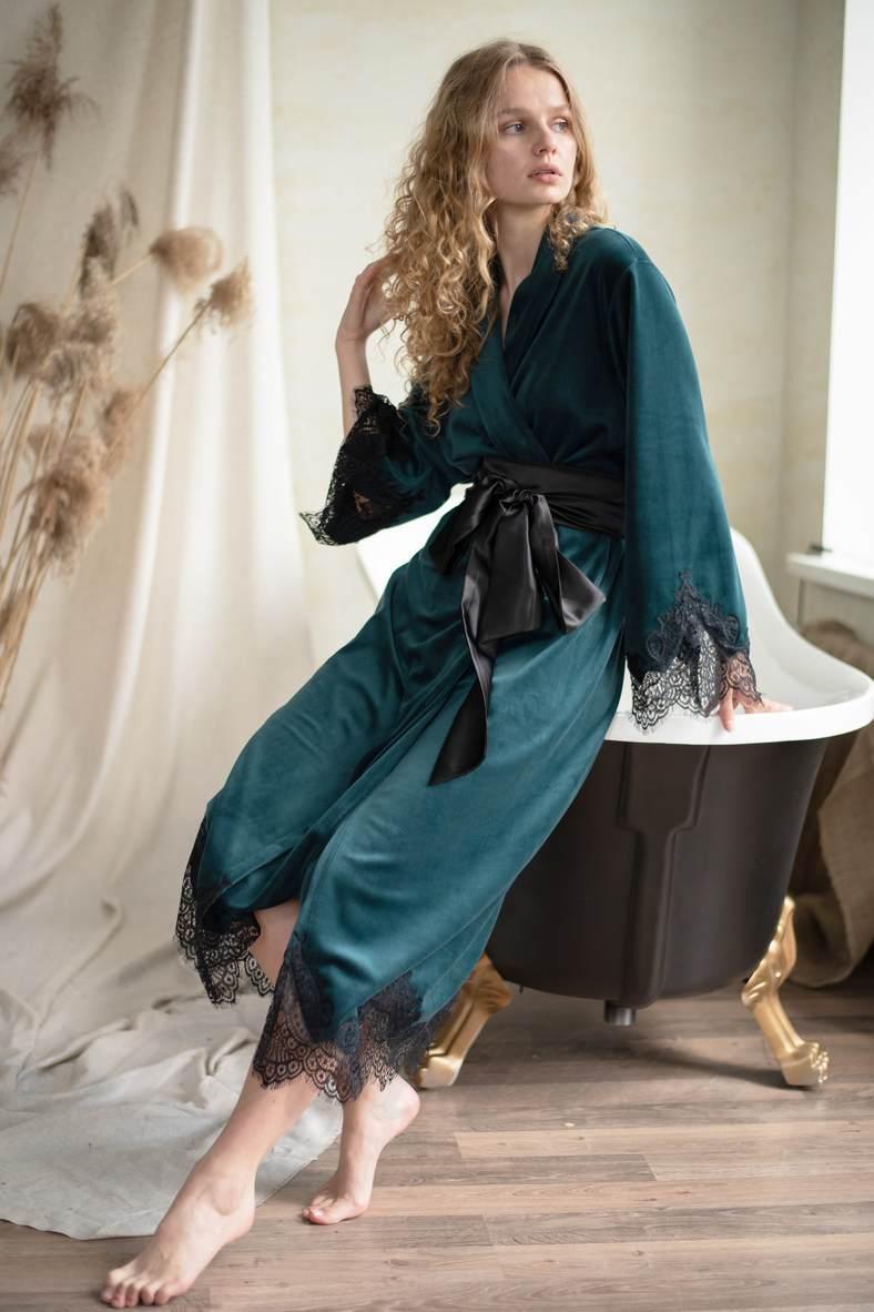 Жіночий літній халат, 63409, код 63409, арт Sil-024