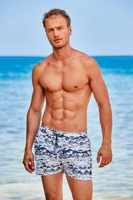Мужские пляжные шорты с рисунком, 63726, код 63726, арт DM21-07
