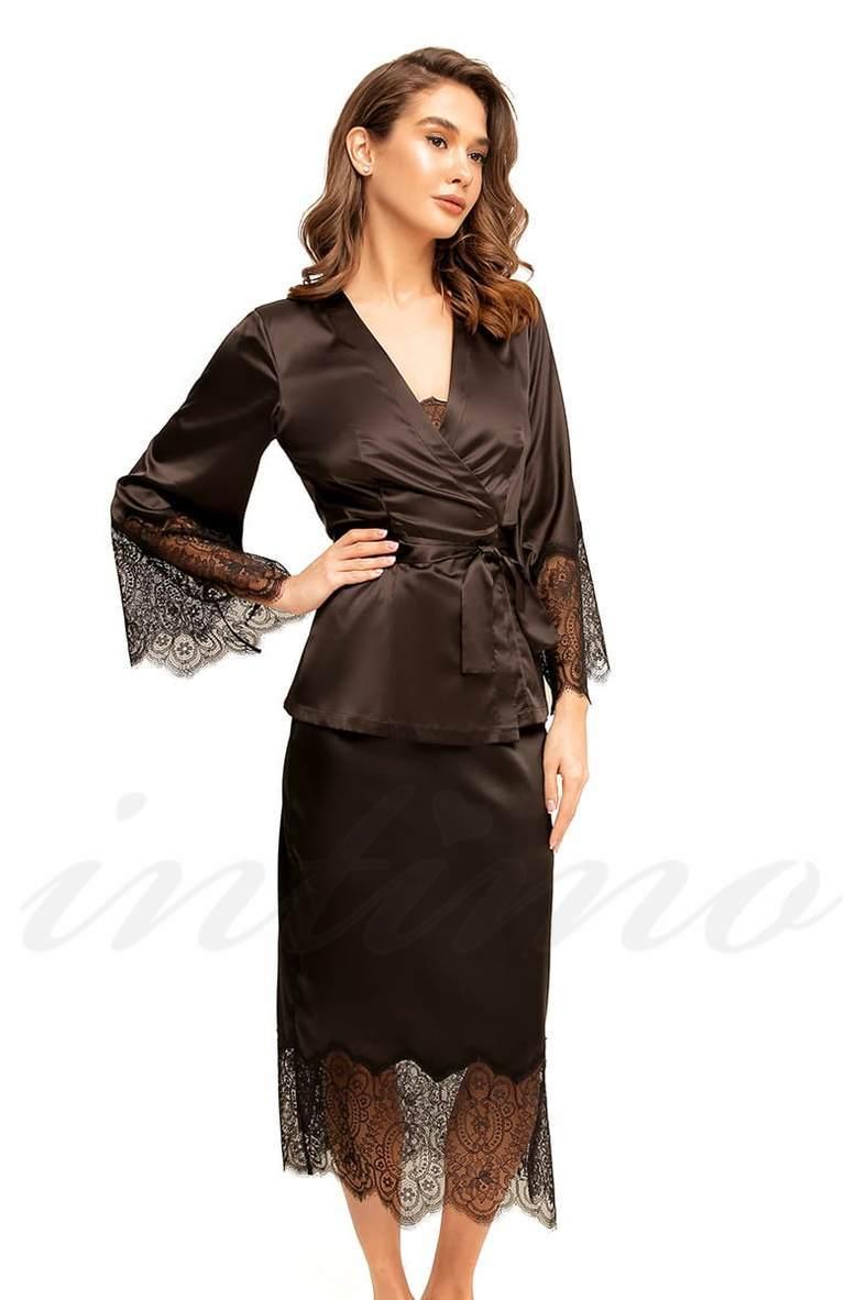 Женские черные халаты, 63746, код 63746, арт 8163-6756
