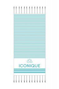 Пляжное полотенце из микрофибры, 63886, код 63886, арт IC21-Towel