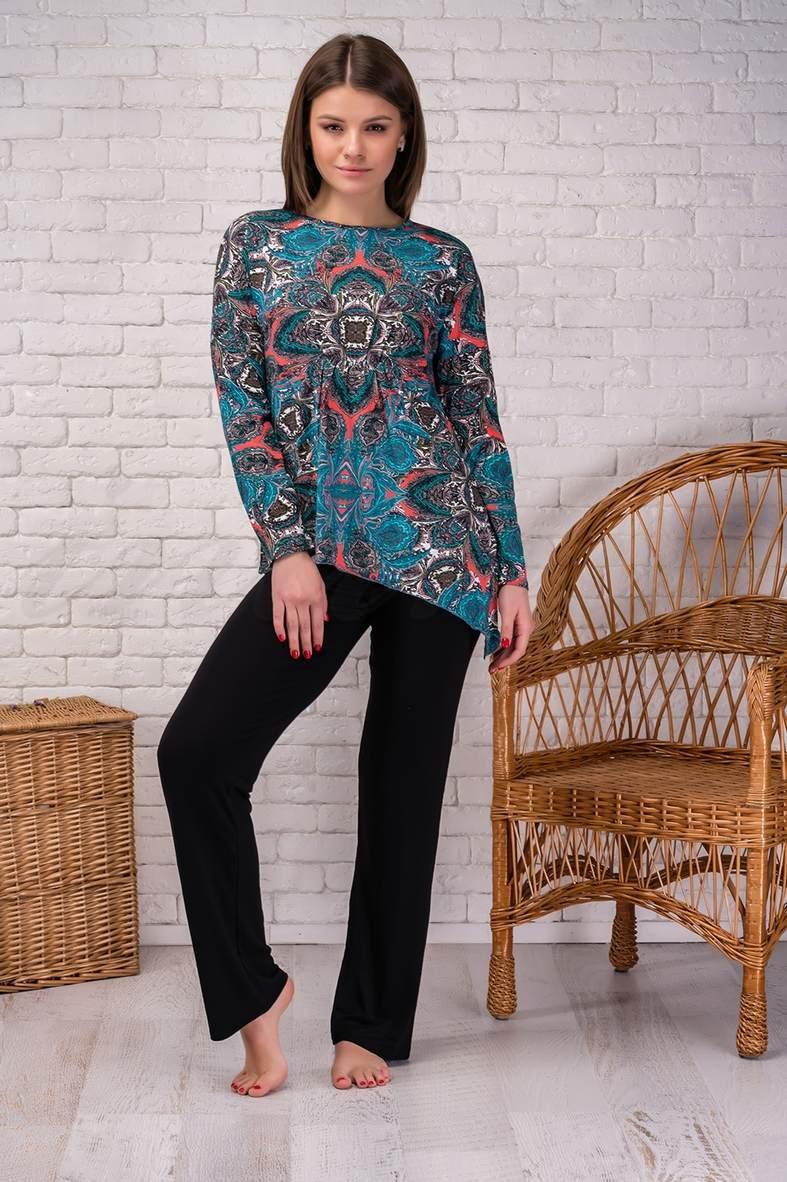 Жіночі піжами в клітку і смужку, 67946, код 67946, арт 040-18XL