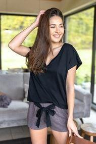 Комплект: футболка и шортики, код 71158, арт Susan-Brown-K
