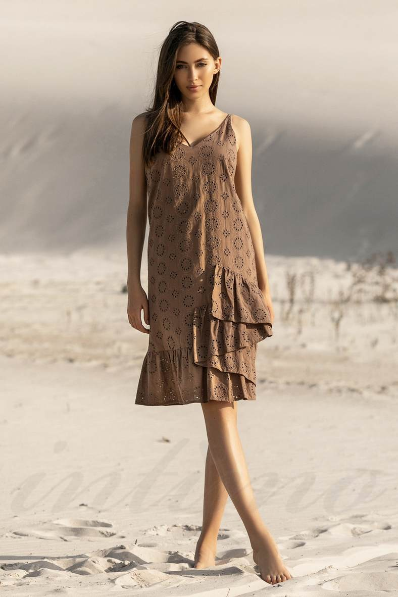 Коричневые платья, 73027, код 73027, арт 20140-P