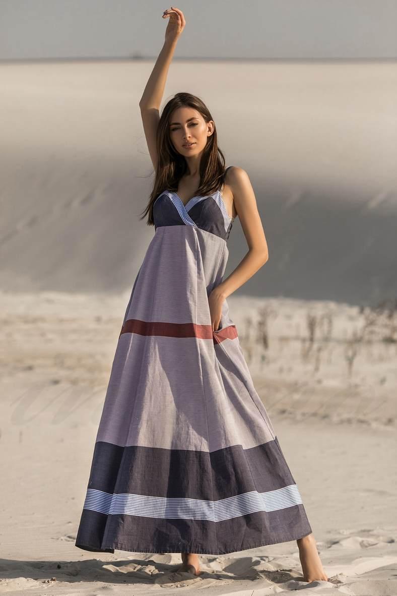 Платья с завышенной талией для полных, 73035, код 73035, арт 20131-P