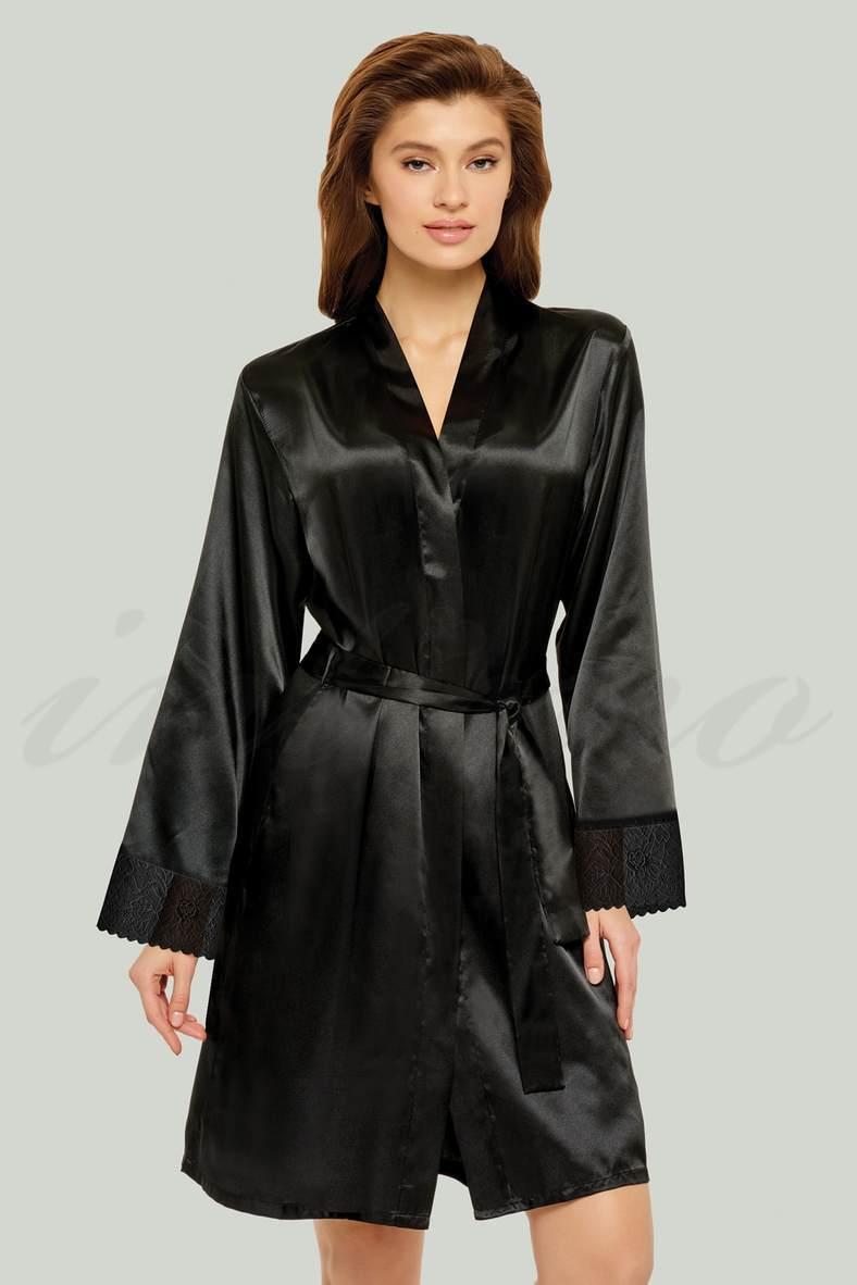 Женские черные халаты, 74512, код 74512, арт S20-00SS201-S