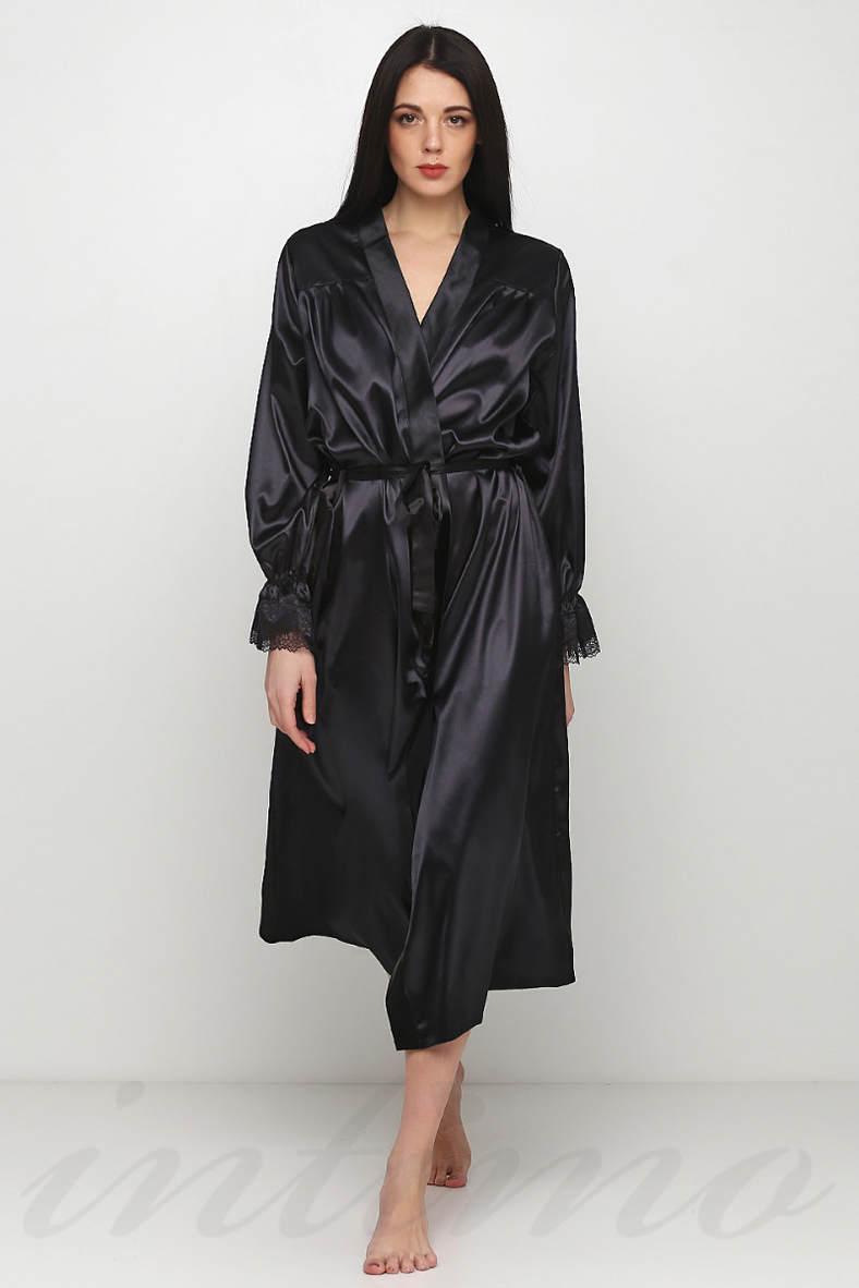Женские черные халаты, 49878, код 49878, арт F50027