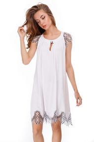 Женская белая сорочка, 71680, код 71680, арт Sil-034
